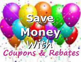 Mail in rebates.  Print grocery coupons