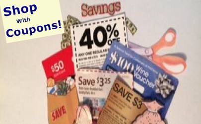 Shopping coupons and coupon codes.  Discount coupons.