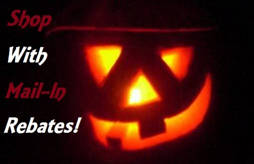 Halloween Mail in rebates, shop with mail in rebates