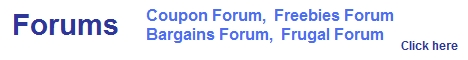 coupon forum, frugal forums, rebate forum