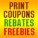 Print coupons, print rebates