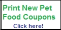 free printable pet food coupons
