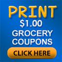 Grocery store coupons.  Dollar coupons.  Print dollar grocery coupons.