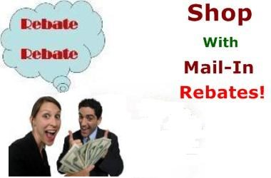 shop with rebates, mail in rebates. store rebates and mail in rebate form.  Rebate mail in form