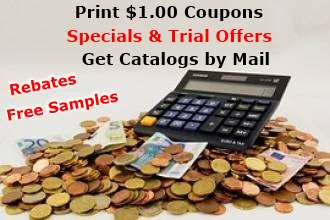 Free samples, Print grocery coupons.  Weight loss trial offers